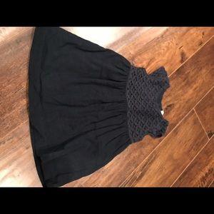Carter's girls 12 mos navy short sleeve dress